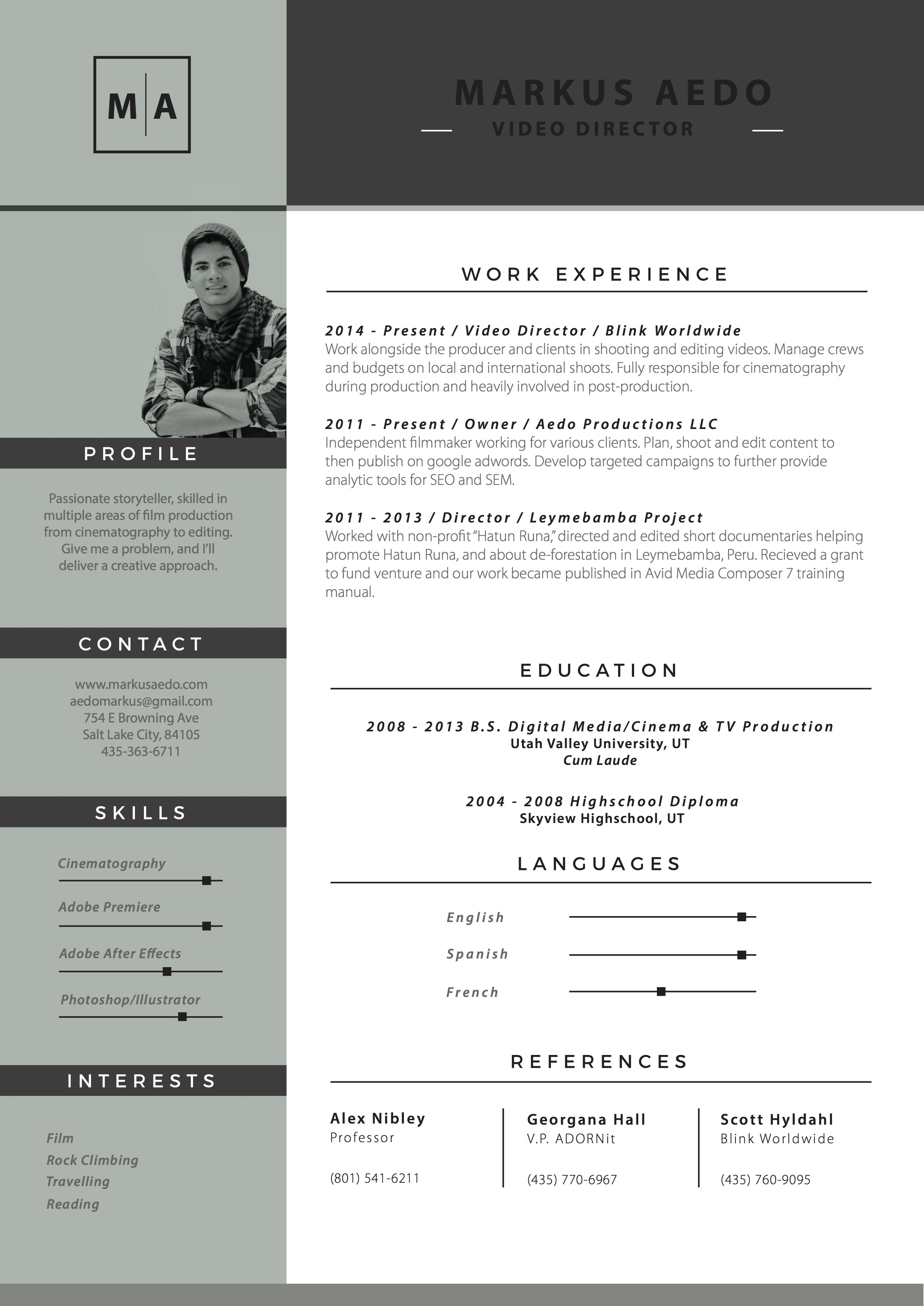 Stunning Independent Filmmaker Resume Contemporary - Entry Level ...